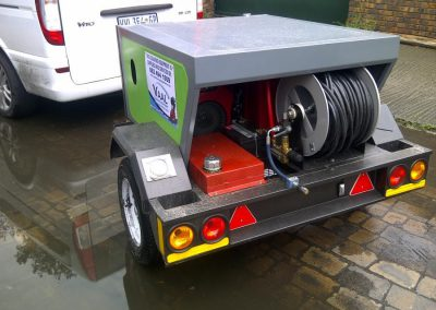 Industrial Cleaning Services H.P. and Sewer Cleaning Trailer1